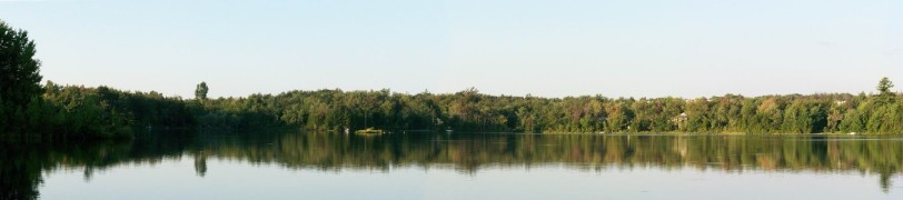 View of our lake in the summer (photo by George Kuzni, found on Google maps)